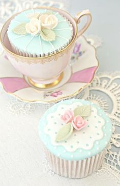 tea party cupcakes | =Invitation Only Tea Party= | Pinterest)