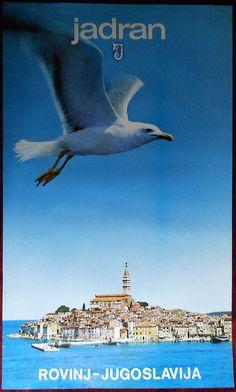 Yugoslavia Rovinj Adraitic. Poster printed: OOUR Tiskalna djelatnost, 1970-1989