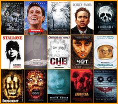 Les affiches de films plagiées