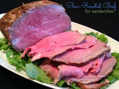 Slow-Roasted Beef for Sandwiches by B.D. Weld @allrecipes  A PERFECT recipe for tender roast beef. #myallrecipes #AllrecipesAllstars #roastbeef #beef