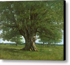 The Oak Of Flagey Canvas Print / Canvas Art By Gustave Courbet