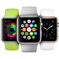 The Apple Watch comes in two sizes, 38mm and 42mm, and in three collections, aluminum, stainless steel, and gold. It starts at $349 and will be available for pre-order on April 10th. Here's everything you need to know!