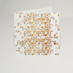 Gold Mosaic card. A Signature Collection design.