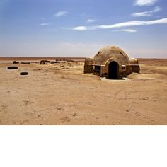 Remains of Star Wars set in Moroccan Desert  Photo by - Rä di Martino