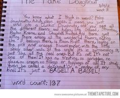 12-year-old speaks about plain donuts. Oh my gosh, this kid is going places!