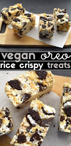 3 Vegan No Bake Desserts - Snickers Coconut Cream Pie, Oreo Rice Crispy Treats, Vegan Caramel Cheesecake Bars - Easy, No Cook, Beginners, Holiday, Party, Dairy Free - Rich Bitch Cooking Blog