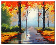 Hey, I found this really awesome Etsy listing at https://www.etsy.com/uk/listing/168809911/autumn-painting-palette-knife-landscape