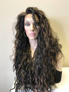 Voluminous Natural Curly Hair Off The Face Loose Waves That Can Wear To Side Or All Back 28 Features Soft Blended Human With A Light
