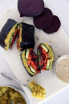 Vegan Muscle Building Quinoa Sushi Sandwich   Active Vegetarian