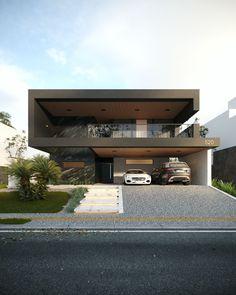 freackfakce - 0 results for architecture Modern House Facades, Modern Exterior House Designs, Modern Villa Design, Dream House Exterior, Modern Houses, Modern Contemporary House, Bungalow House Design, House Front Design, House Architecture Styles