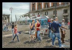Elicottero in Piazza del Plebiscito - Napoli
