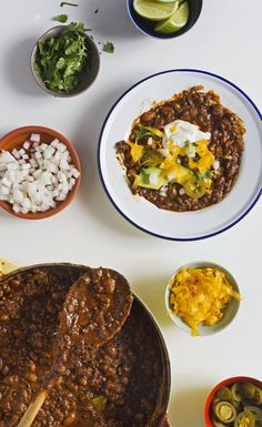 Make a big batch of this beef chili, and set out plenty of toppings for guests to create their own perfect bowls.