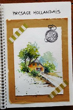 BB-Aquarelle: Paysage hollandais / Dutch landscape