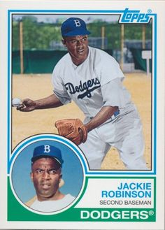 Dodgers Blue Heaven: 2015 Topps Archives - The Dodger Base Cards  **  1983 Topps - #330 Jackie Robinson