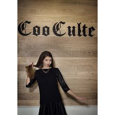 """""""Neoprene + Eco leather dress by Coo Culte"""""""