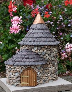 Make a miniature stone fairy house