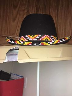 Native American Quotes, Native American Crafts, Native American Beadwork, Indigenous Education, Seed Bead Art, Beaded Hat Bands, Visors, Top Hats, Beaded Top