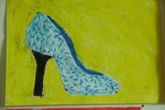 Ontwerp je eigen schoen; waskrijt groep 6