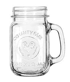 Libbey  County Fair Drinking Jar 16oz