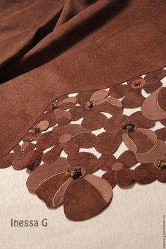 Купить Замшевая юбка шоколадного цвета - коричневый, замшевая юбка, юбка в офис, юбки