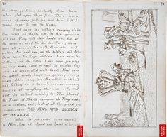 Excerpts from Lewis Carrol's original manuscript for Alice in Wonderland. He did a really nice job on this one. (Via.)