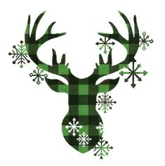 Available for FREE today only 11/20/18 - Print & Cut Green Reindeer Head