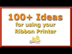 Using new fonts with your ribbon printer