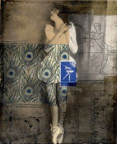 mixed media collage art by Michelle Caplan - Genevieve54