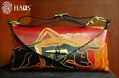 Woman & Bull Carved Handbag by HAUSleather on Etsy, $1,000.00