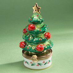 Limoges Ladybugs Christmas Tree Box.