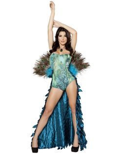 Check out Women's Sexy Deluxe Pretty Peacock Costume - Wholesale Animals Costumes for Adults from Wholesale Halloween Costumes