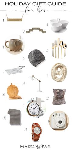 Holiday Gift Guide for Her: for wives, sisters, mothers, friends... any ladies in your life, these gift ideas will get you ready for Christmas. Plenty of ideas at $30 or less! maisondepax.com