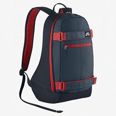 Nike SB Embarca Skate Backpack University Red Blue Black ** Find out more about the great product at the image link. Mochila Nike Sb, Skate Backpack, Sb Logo, Backpack Reviews, Briefcase For Men, Cool Backpacks, Swagg, School Bags, Bag Accessories