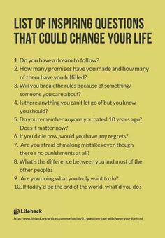 List of Inspiring Questions That Could Change Your Life. I use some of these inspiring questions with my clients in Life Shift Coaching! Life Questions, This Or That Questions, Coaching Questions, Deep Questions To Ask, Journal Questions, Ask Questions Quotes, Interesting Questions To Ask, Amazing Questions, Psychology Questions