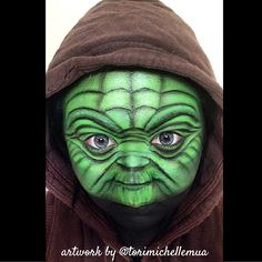 Awesome this is!! @torimichellemua incredible Yoda makeup