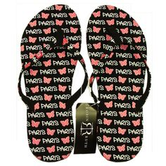 Robin Ruth - Paris 'Butterfly' Women's Flip Flops - One size 6.5 to 7.5 >>> You can get additional details at the image link.