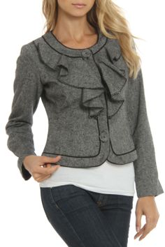 Katherine New York Adrianna Jacket in Black and White - Beyond the Rack