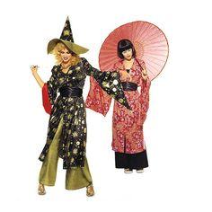 Completo orientale: kimono / pantalone, Burda 3044 Oriental, Kimono, Princess Zelda, Fictional Characters, Kimonos, Fantasy Characters