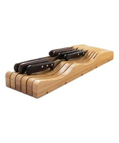This In-Drawer Bamboo Knife Block by Home It is perfect! #zulilyfinds