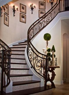 Beautiful winding stairway