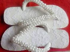 chinelos decorados com rendas - Pesquisa Google
