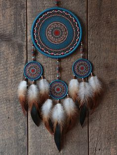 Dream catcher Dreamcatcher Blue dream catcher by MyHappyDreams