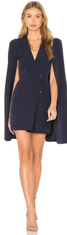 Lavish Alice Split Back Cape Dress