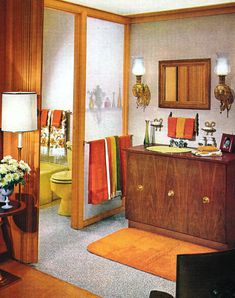 1970s Bathroom Decor #retrohomedecor