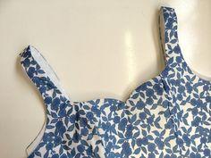 Kim vestido Sewalong # 4: Montaje del corpiño (todas las variantes) - A Mano Londres