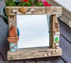FantaSea - Made by Natassa Klavdianou Driftwood Mirror, Frame, Handmade, Furniture, Home Decor, Picture Frame, Hand Made, Decoration Home, Room Decor