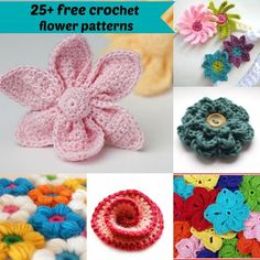 25+ free crochet flower patterns by jennyandteddy