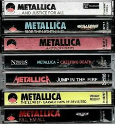 Looks like my old collection. #Metallica