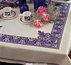 Blue embroidered border - magnificent!
