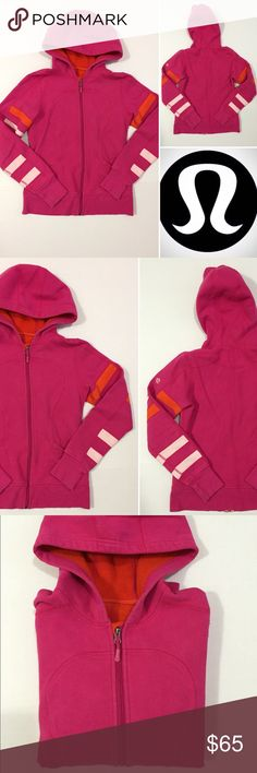 """[lululemon] women's """"Scuba Hoodie"""" sweatshirt szS [lululemon] women's """"Scuba Hoodie"""" sweatshirt szS •listing •good pre-owned condition •pink/orange/white block color combo •full zip-up front, 2 hand pockets •material/size tag removed, size dot not locatable, would fit size small, I'm thinking 6 •some signs of wear/few spots to cuffs •stitching is completely intact but appears irregular in areas •offers welcomed using the offer feature or bundle for the best discount• lululemon athletica Tops…"""